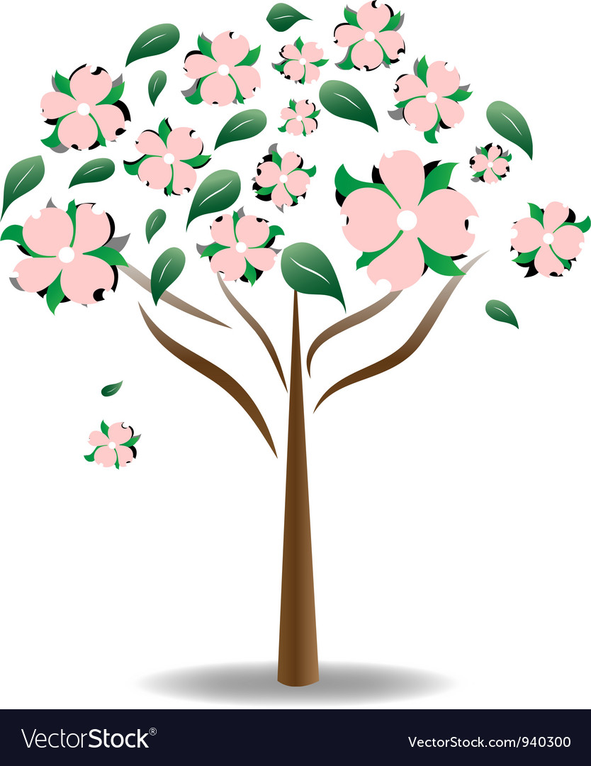 Dogwood Flower Vector