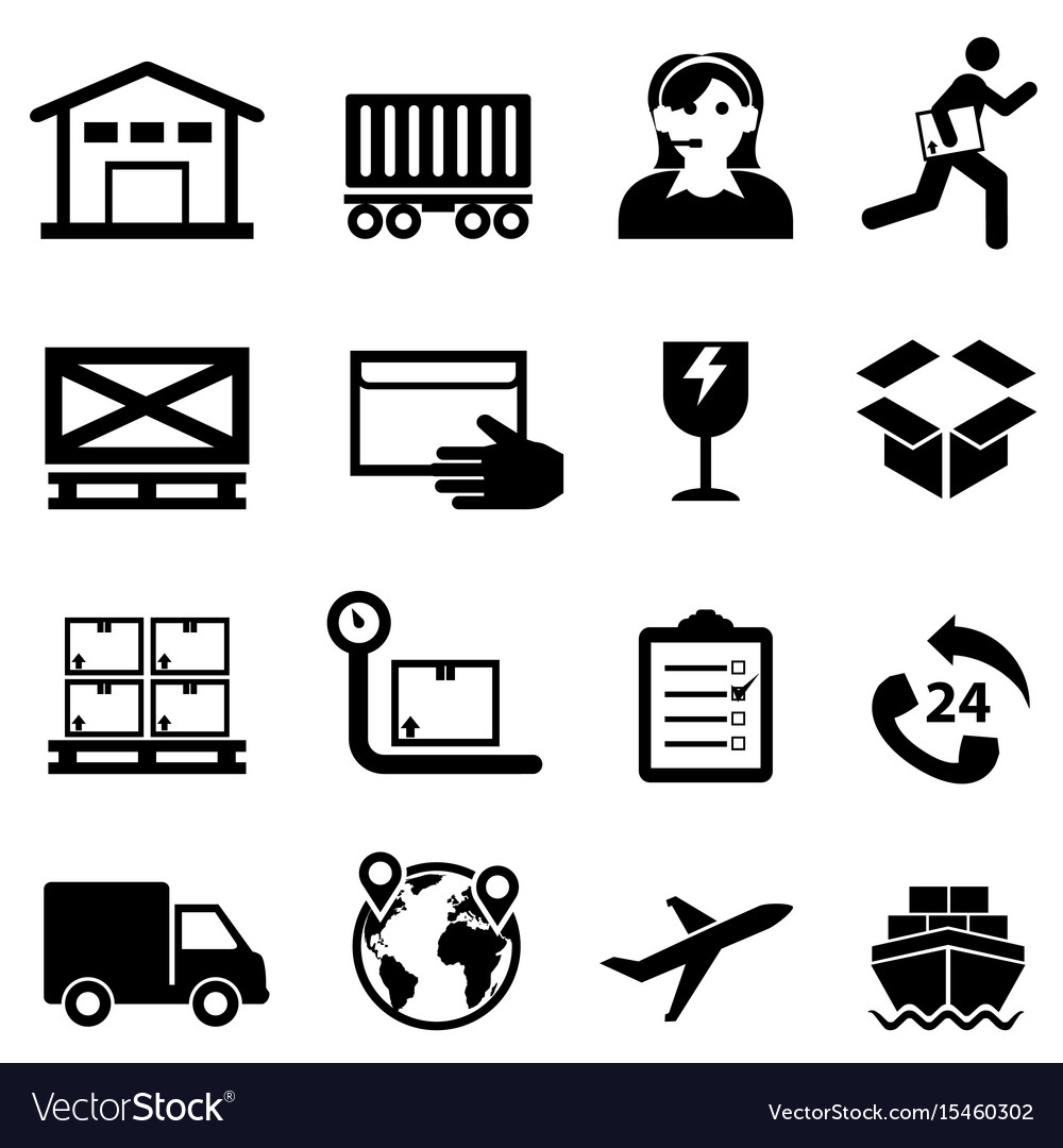Shipping delivery distribution and warehouse web vector image