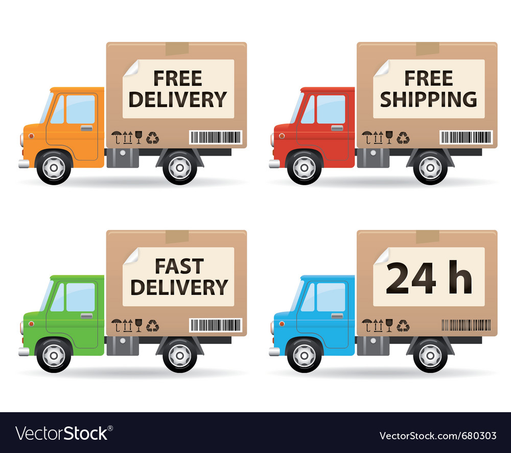 delivery truck vector image by genestro image 680303