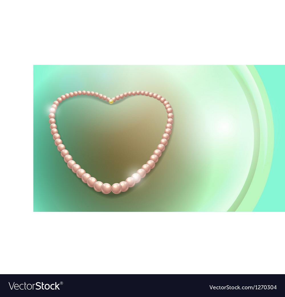 Pearls necklace vector image