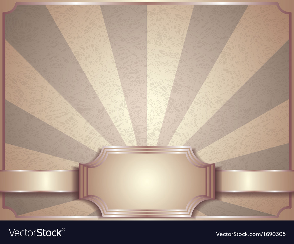 Retro label background vector image