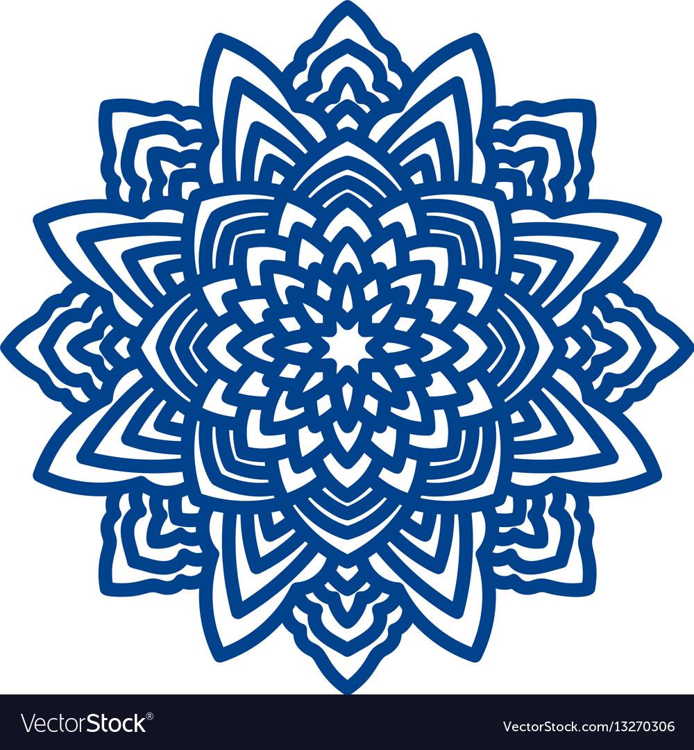Mandala laser cutting for paper napkins vector image
