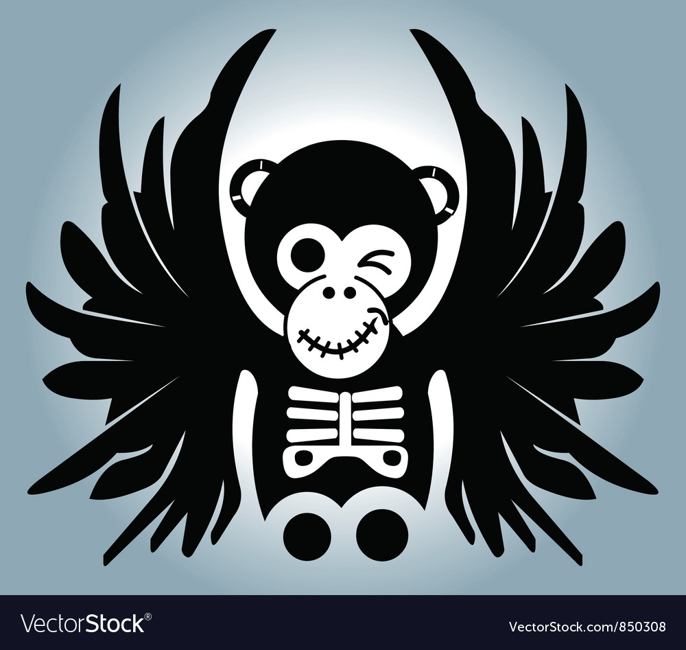 Monkey wing Vector Image