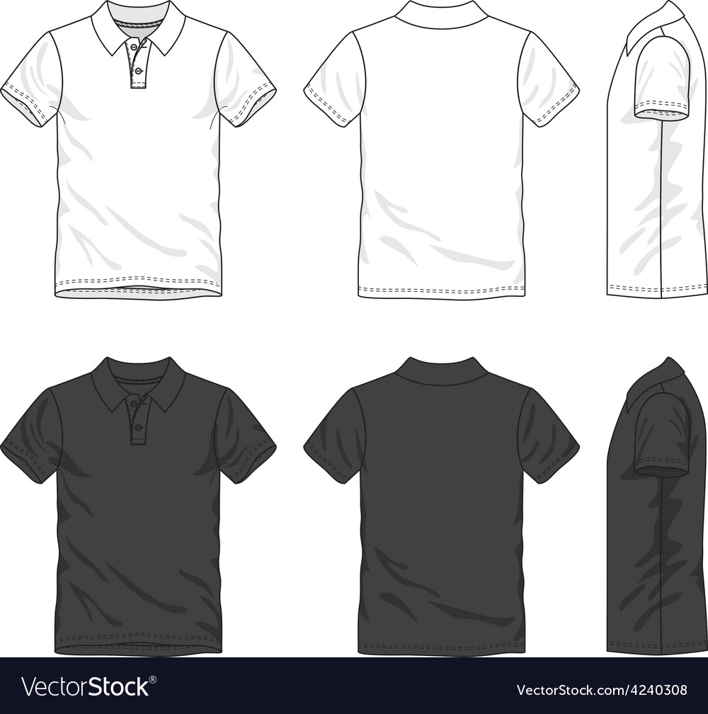 Blank polo shirt vector image