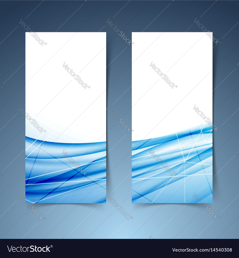 Blue swoosh wave and line abstract banner vector image