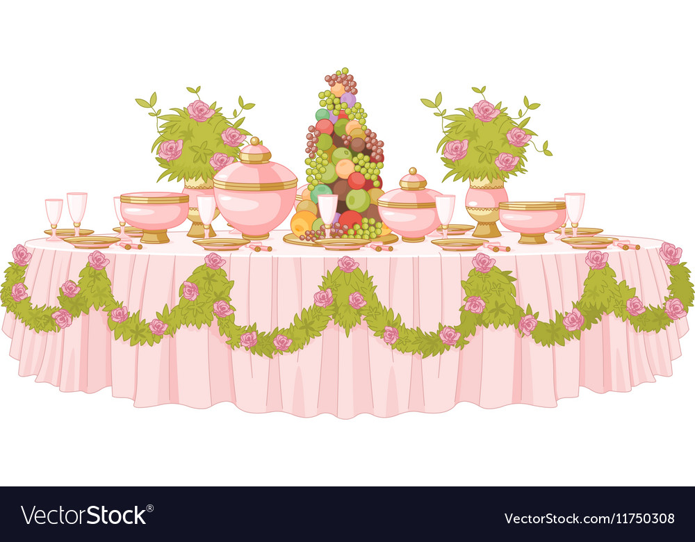 Dining Table in Princess Palace vector image