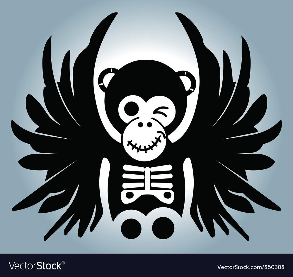 Monkey wing vector image