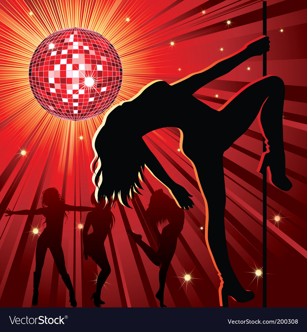 Nightclub background vector image