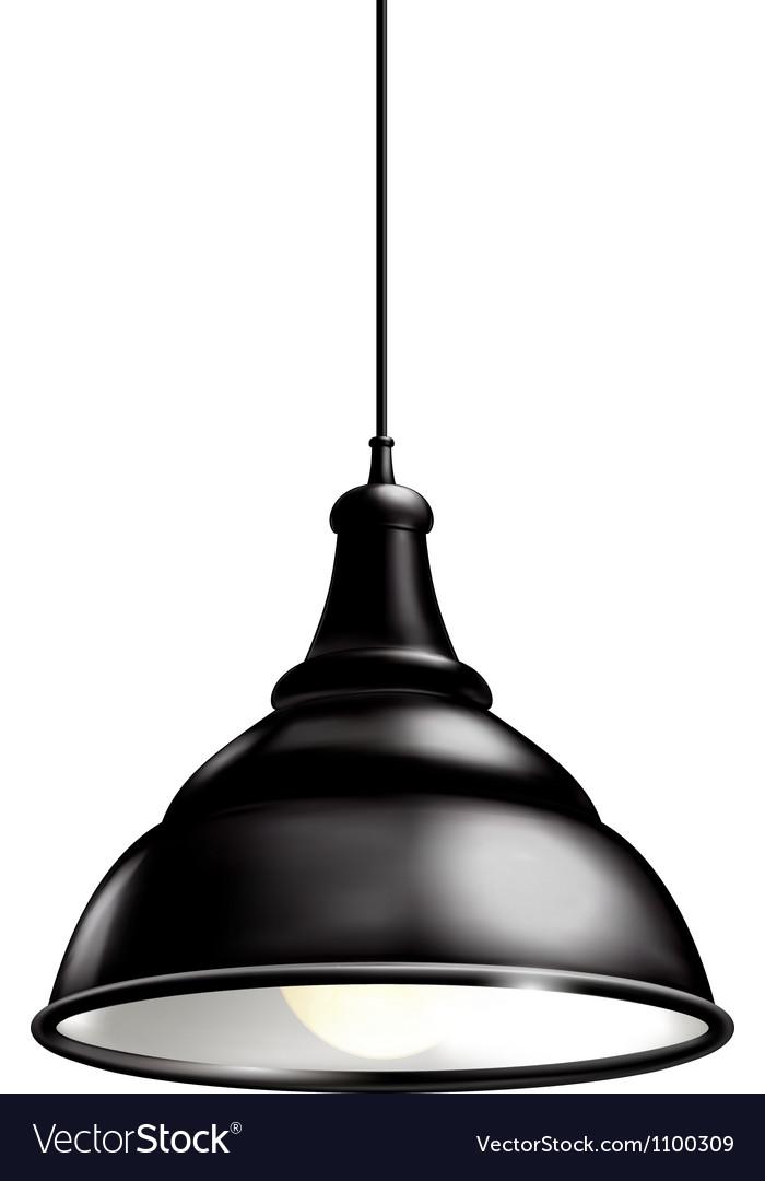 Black Lamp vector image