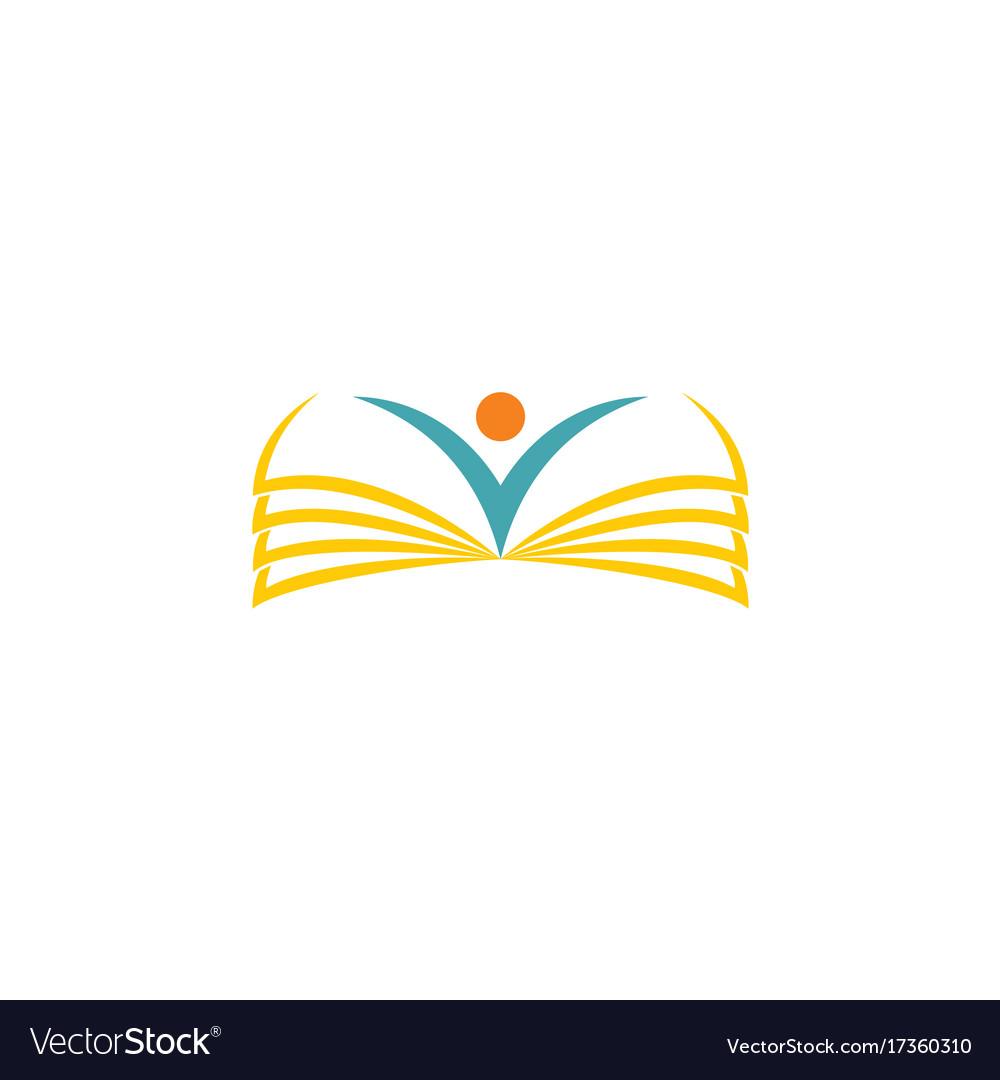Book Cover Design Logo : Open book school logo royalty free vector image