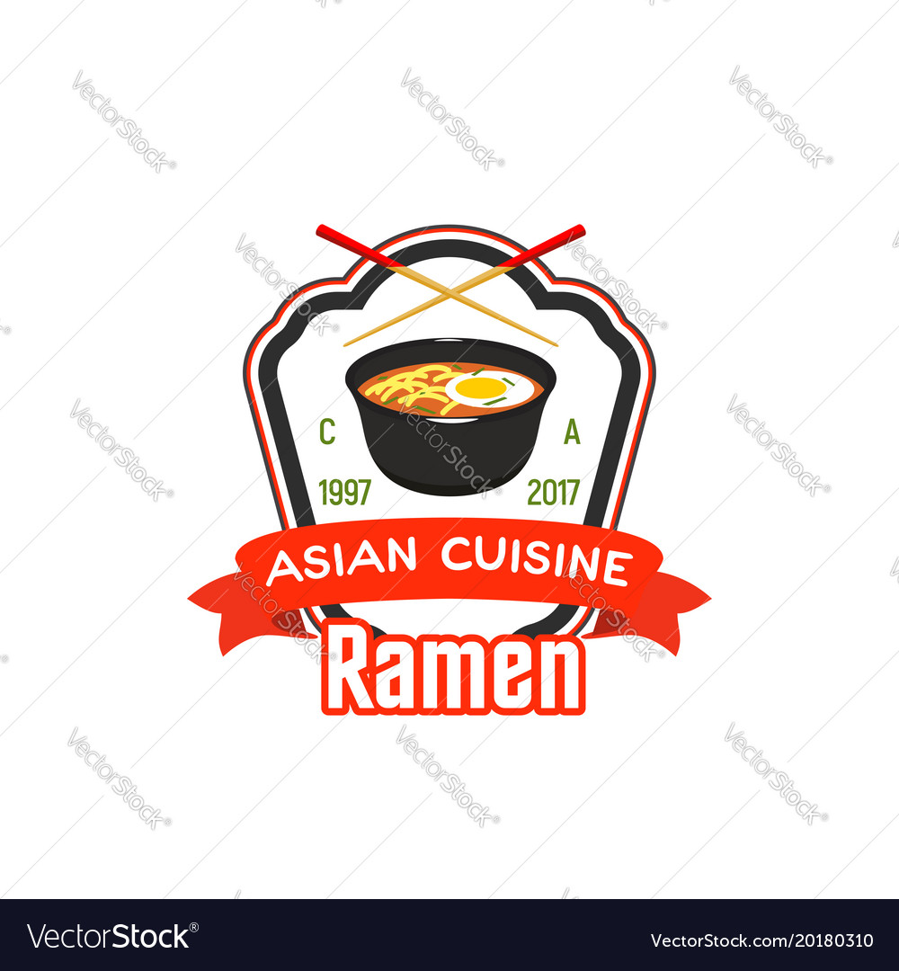 Sign for asian cafe or restaurant vector image