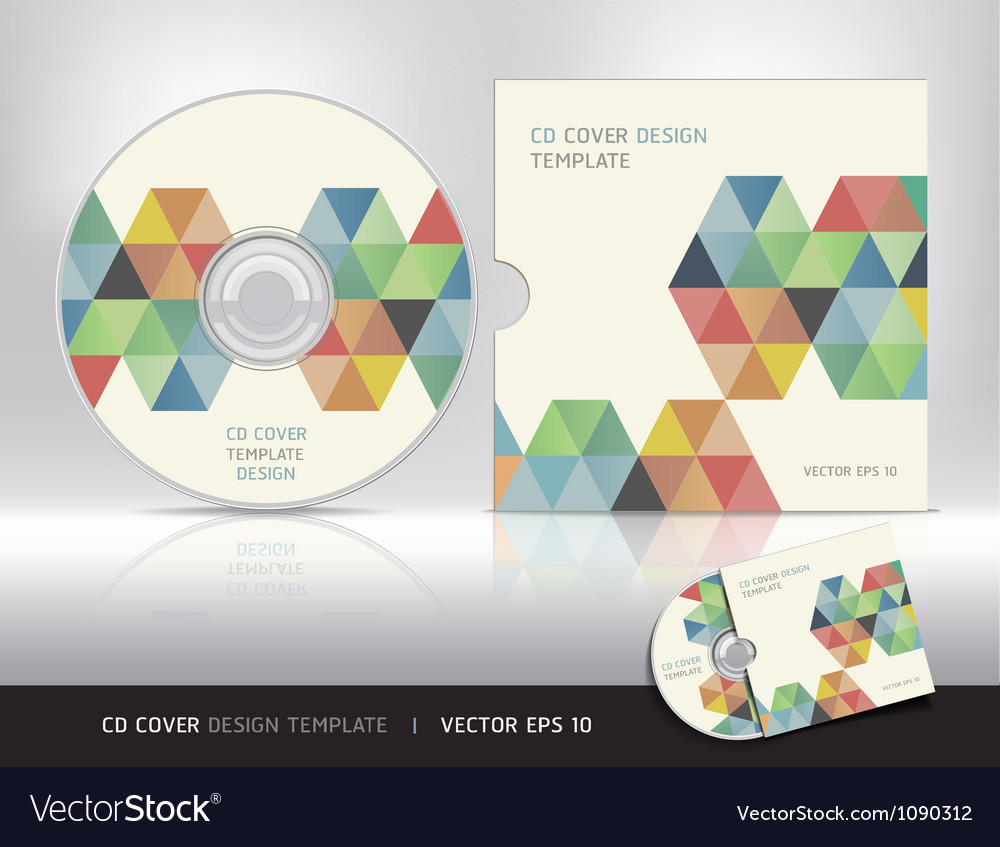 cd cover design template royalty free vector image. Black Bedroom Furniture Sets. Home Design Ideas