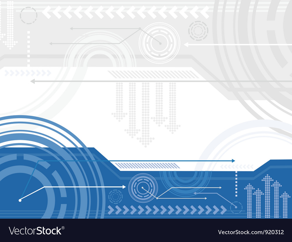 Technology inspired background vector image