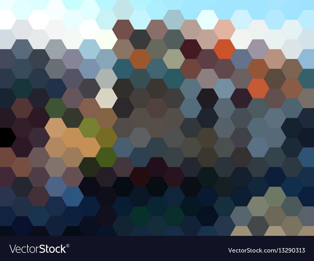 Abstract hexagon landscape background vector image