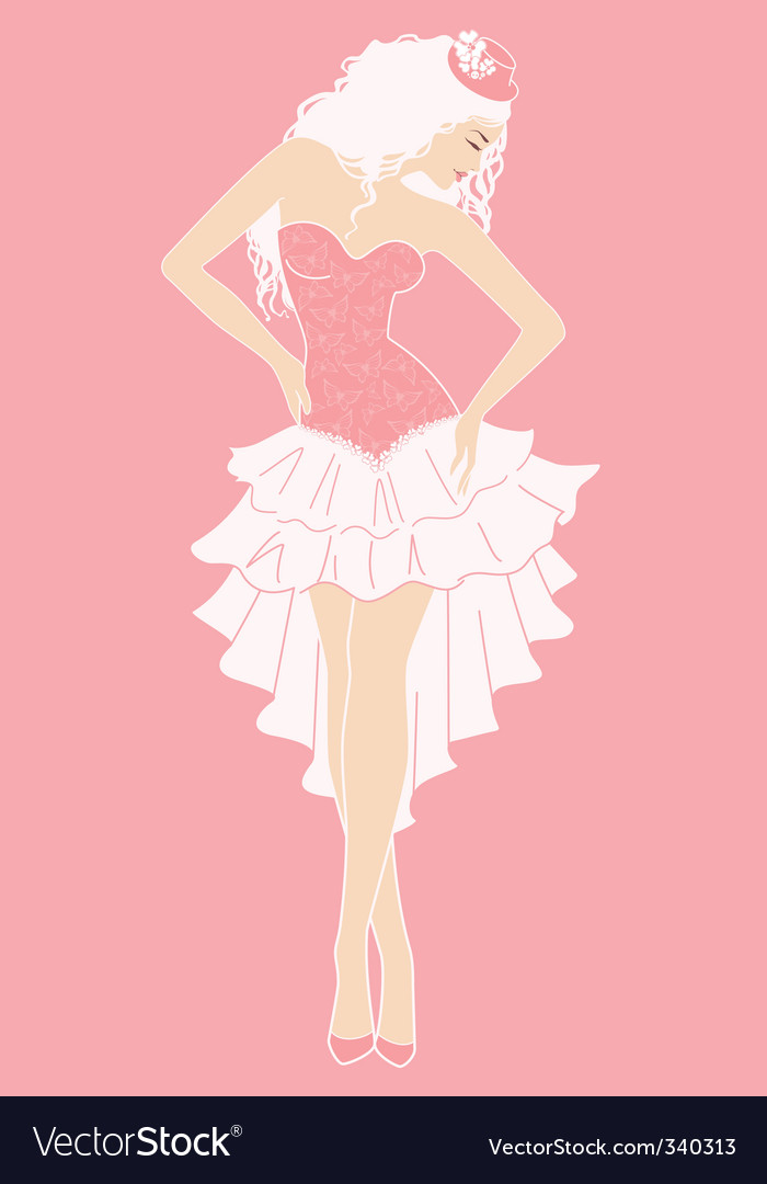 Cancan dancer vector image
