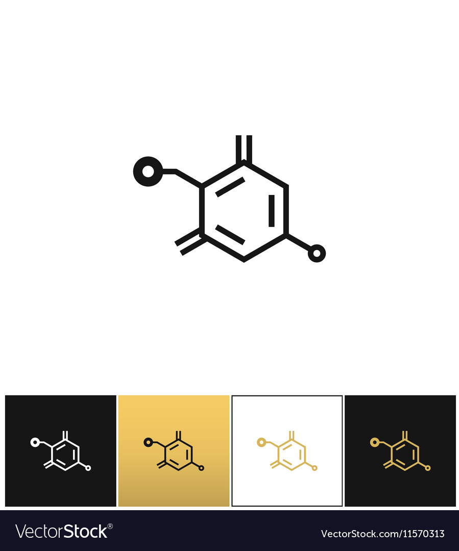 Chemical formula structure icon vector image