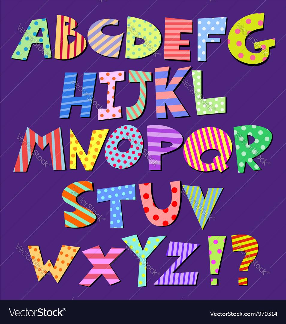 Comic alphabet vector image