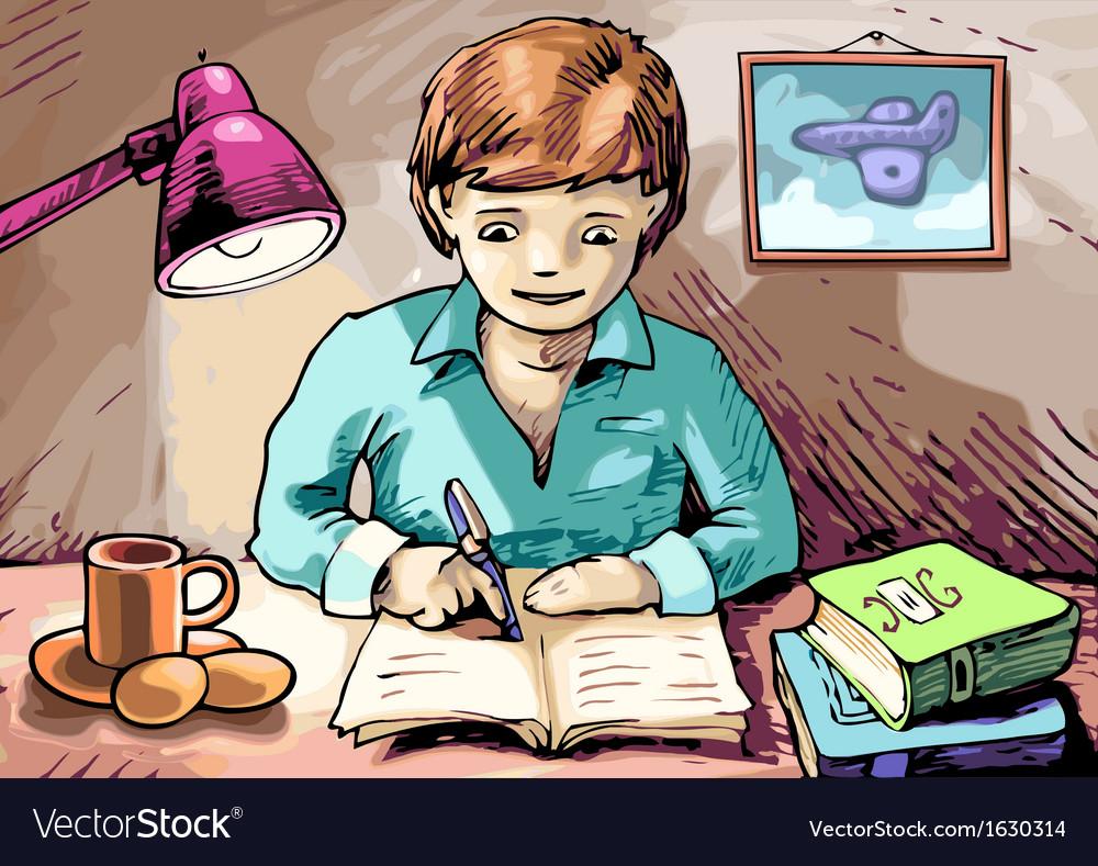Homework vector image