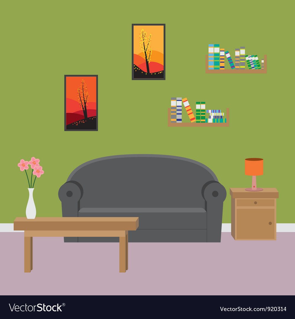 Vector Of Living Room Stock Vector Image Of Sofa: Living Room Royalty Free Vector Image