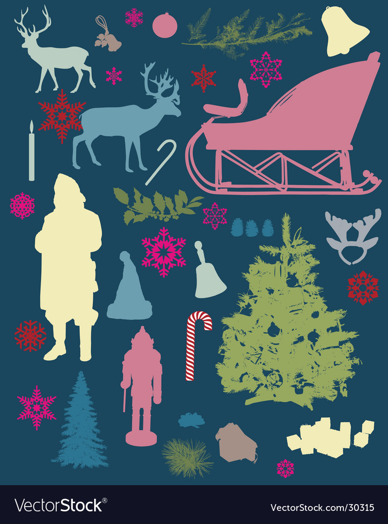 Holiday silhouettes vector image