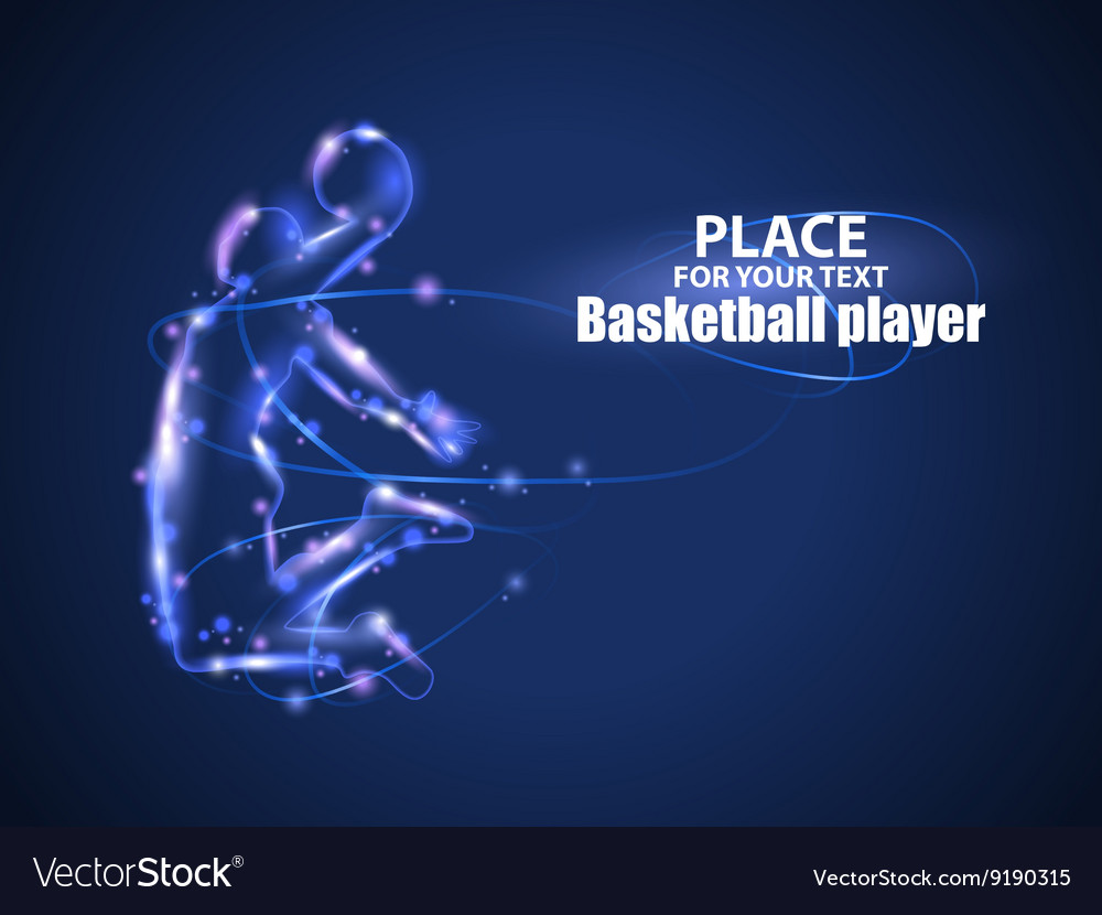 Motion design Basketball player Blur and light vector image