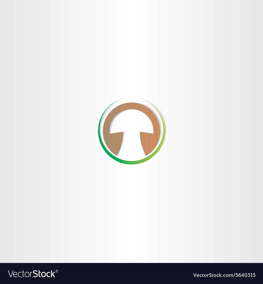 Stylized mushroom logo design vector image
