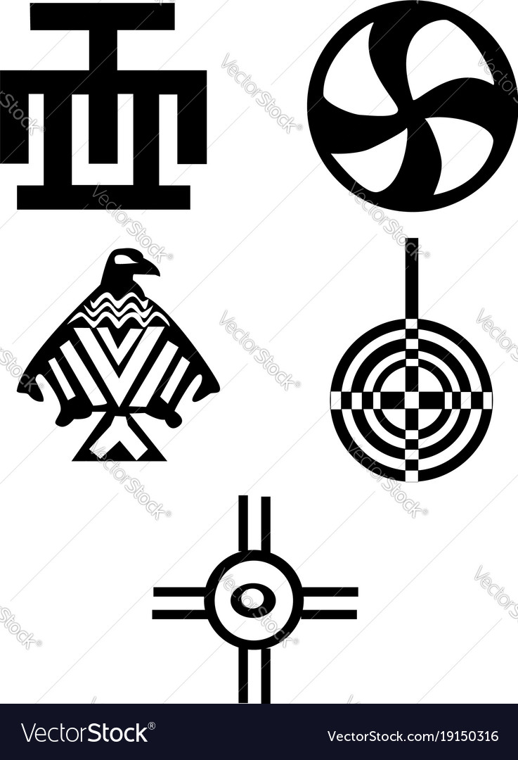 American and african symbols indians royalty free vector american and african symbols indians vector image buycottarizona
