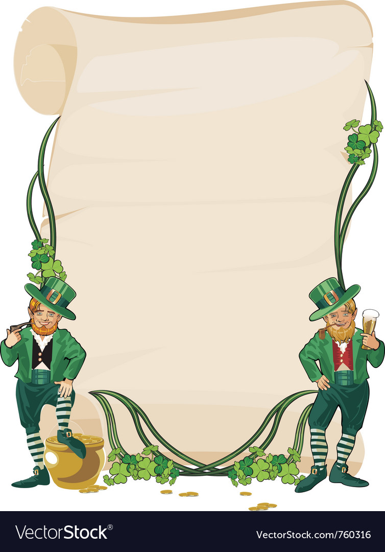 St patric day vector image