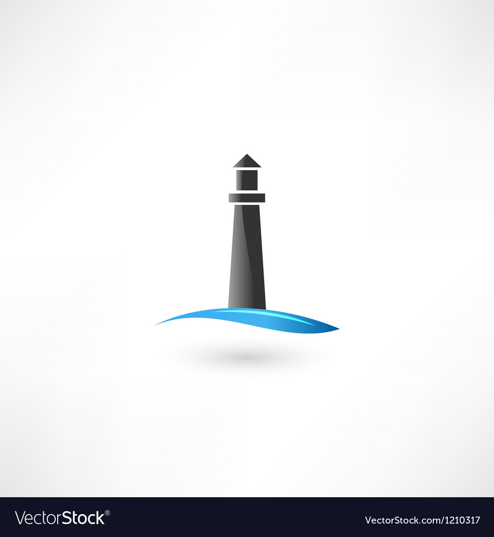 Cartoon Sailing Ship Design Shading Curtain Blackout: Lighthouse Icon Royalty Free Vector Image