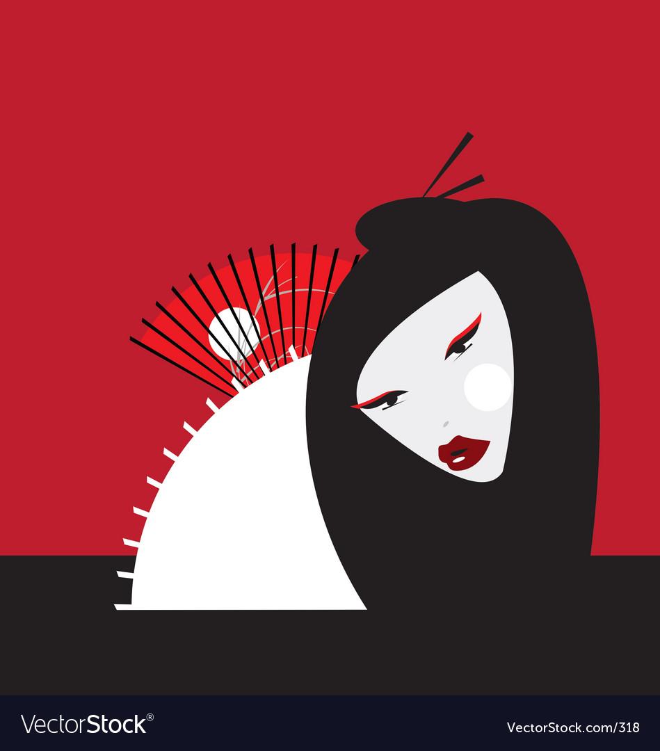 Oriental girl Vector Image