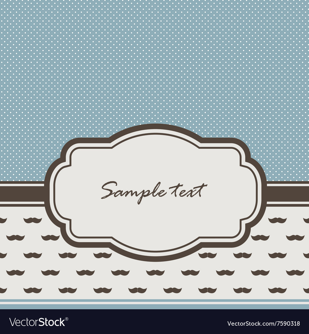 Vintage frame and mustaches vector image