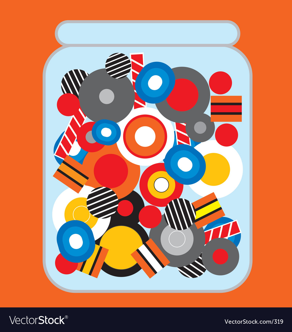Jar of candy vector image