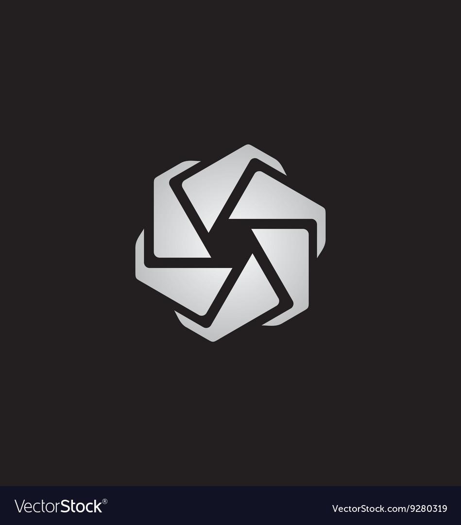 Spin circle technology logo vector image