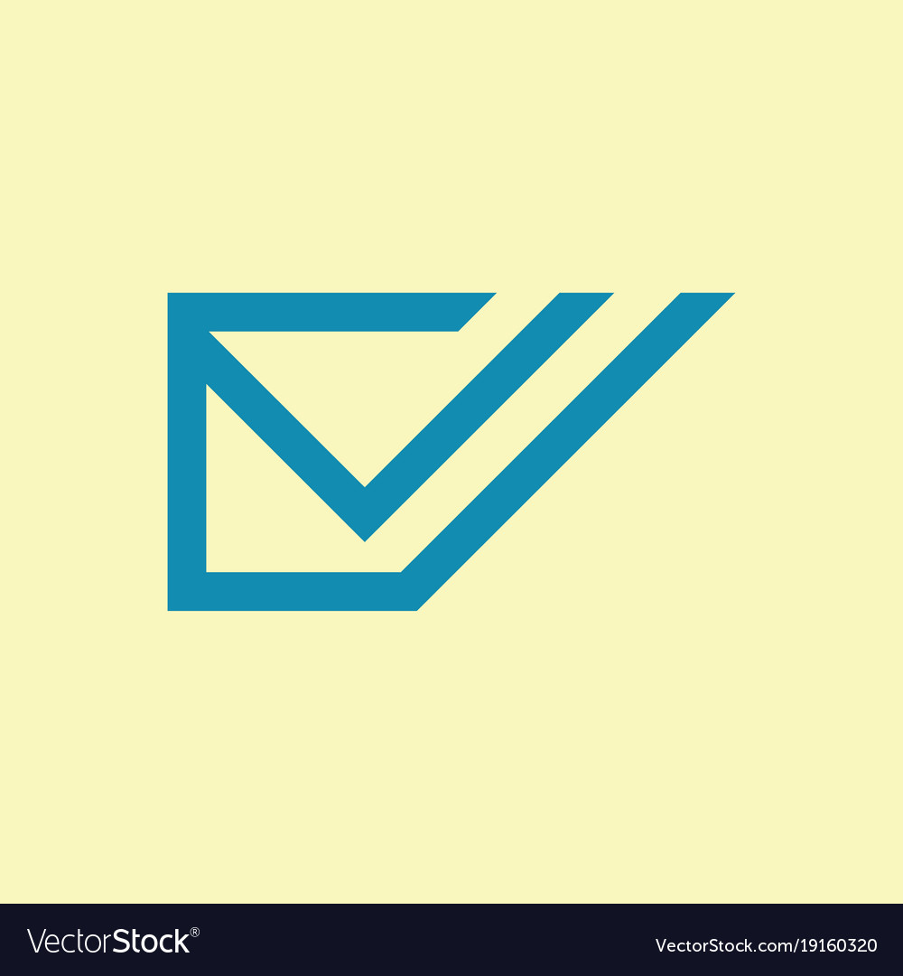 Envelope message logo vector image