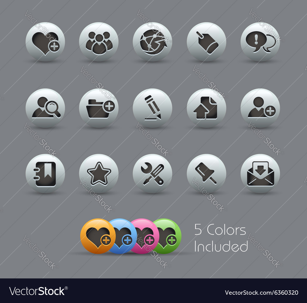 Internet Blog Pearly Series vector image
