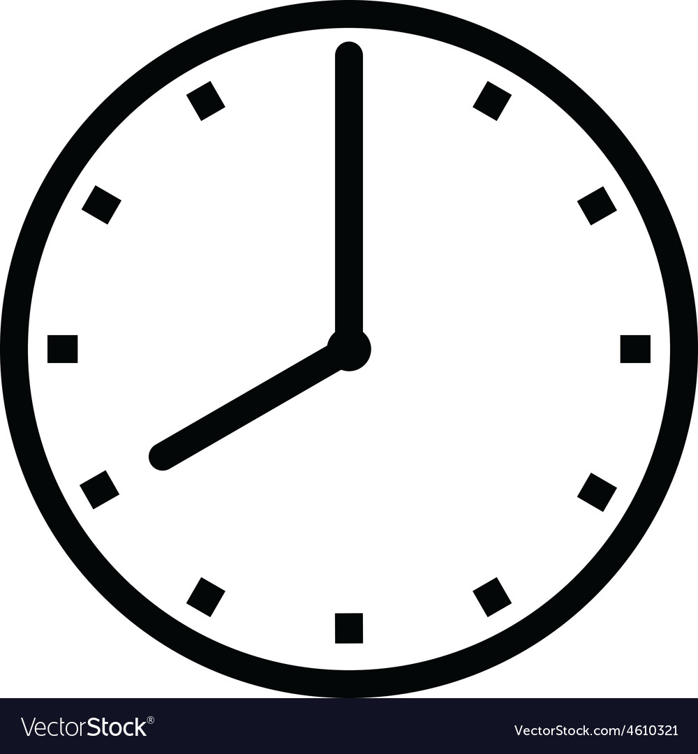 Clock 8 Royalty Free Vector Image