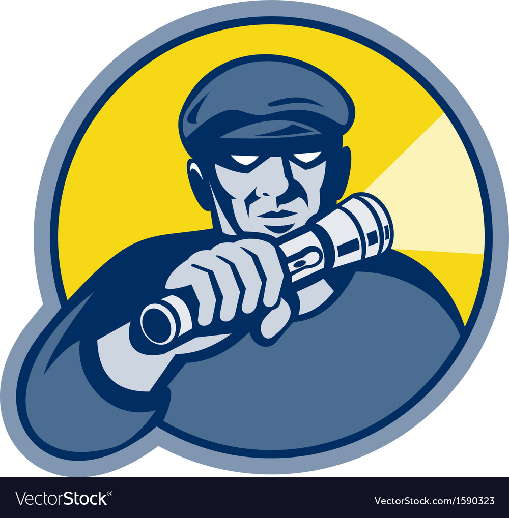 Burglar thief mugger criminal vector image