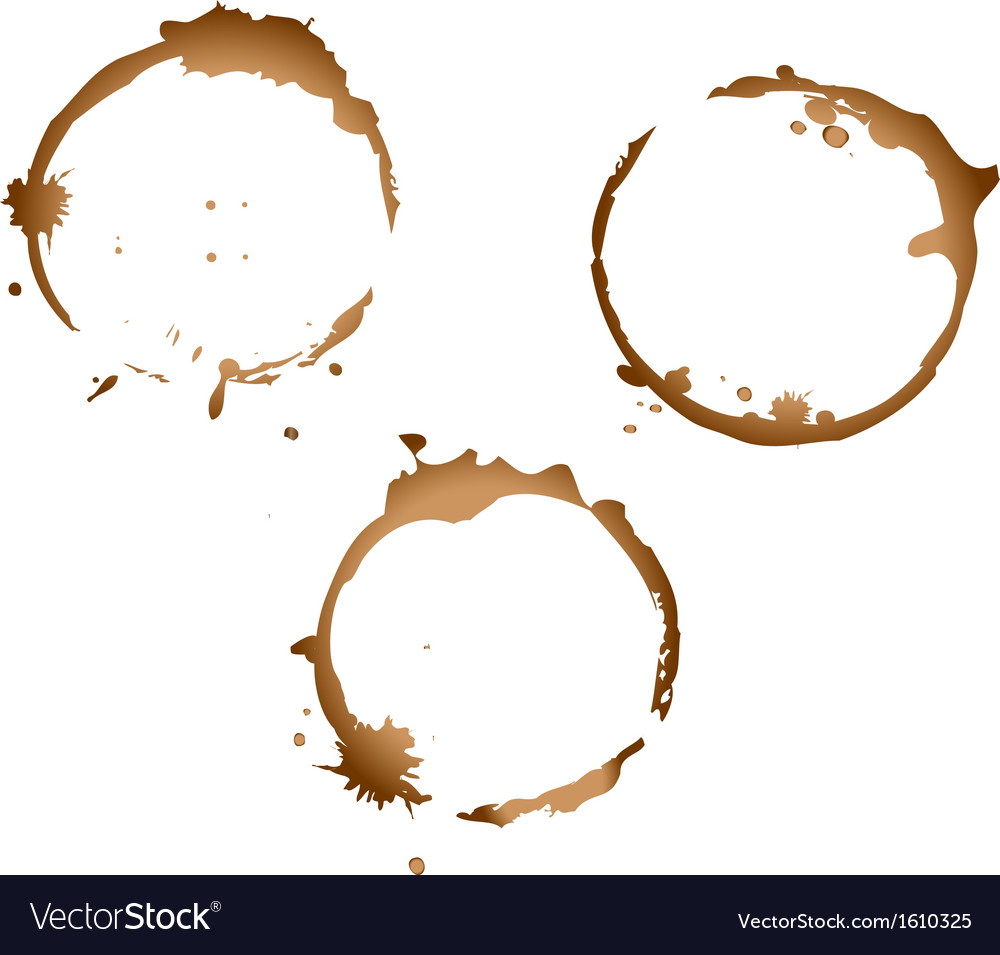 Coffee stains vector image