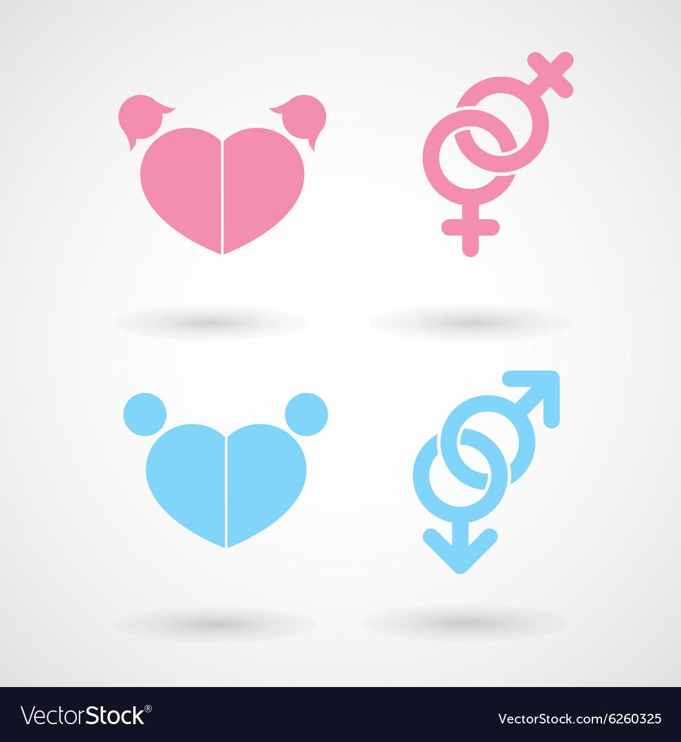 Gay and lesbian symbol icons royalty free vector image gay and lesbian symbol icons vector image buycottarizona