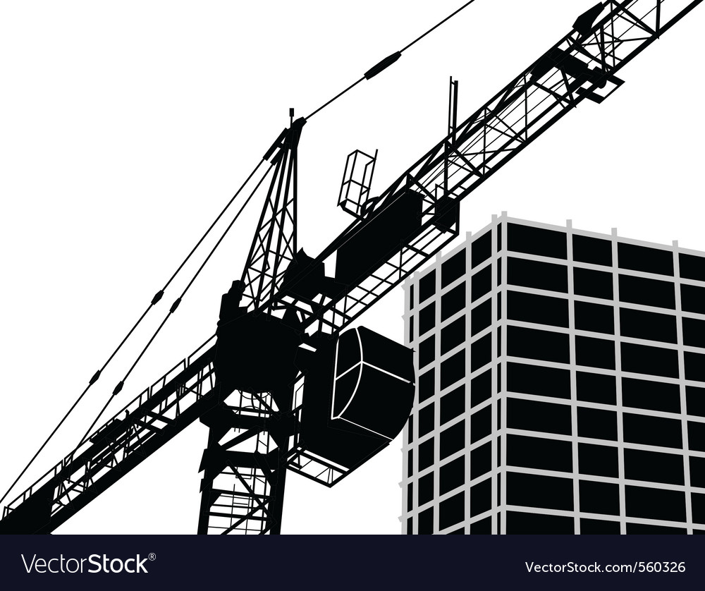 Building Construction Graphics : Building construction royalty free vector image