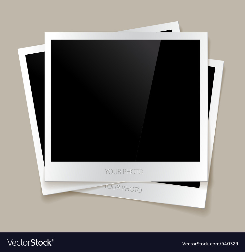 Empty photos vector image