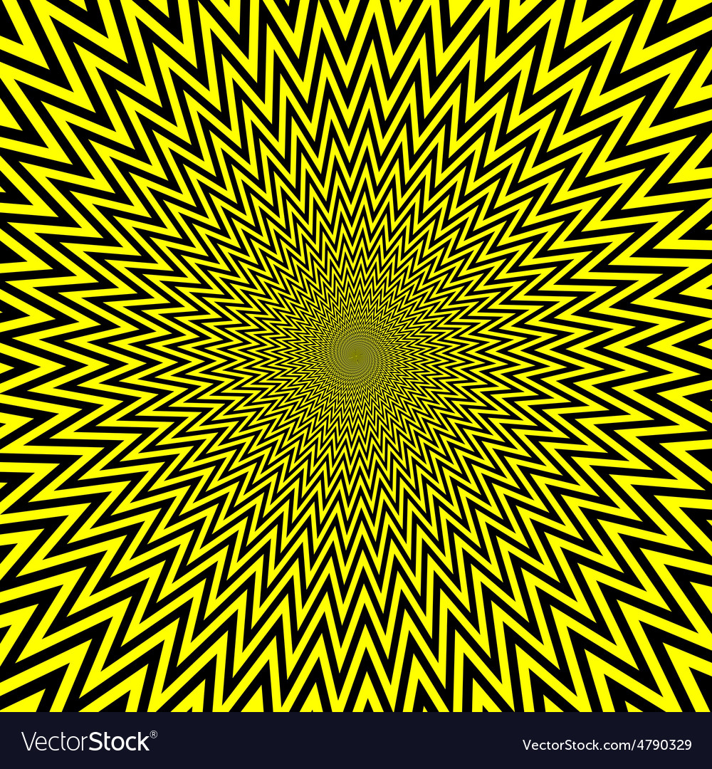 Yellow abstract spirals vector image