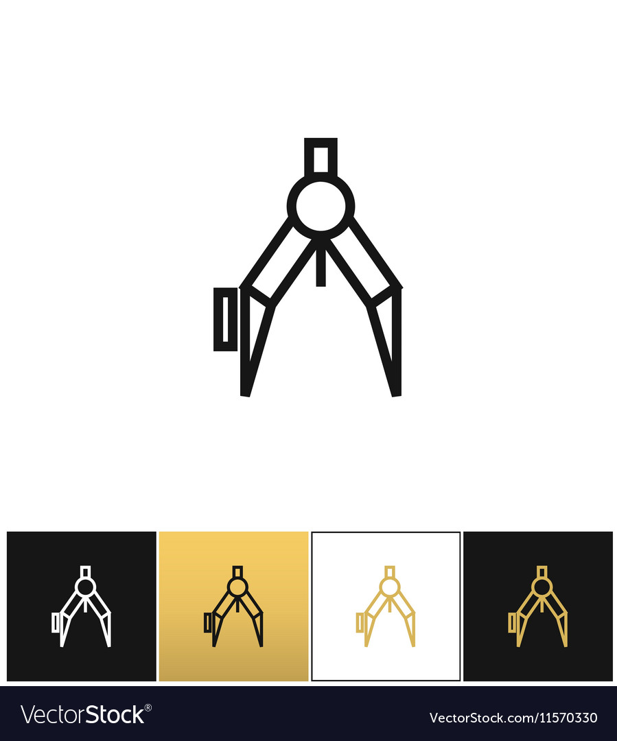 Compass or architect compasses icon vector image