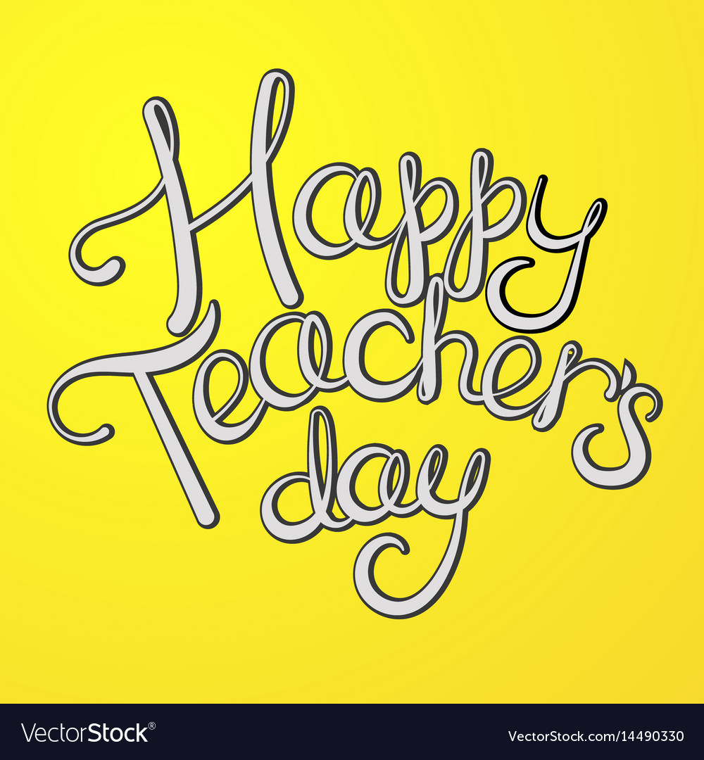Teacher day greeting card cartoon royalty free vector image teacher day greeting card cartoon vector image kristyandbryce Image collections