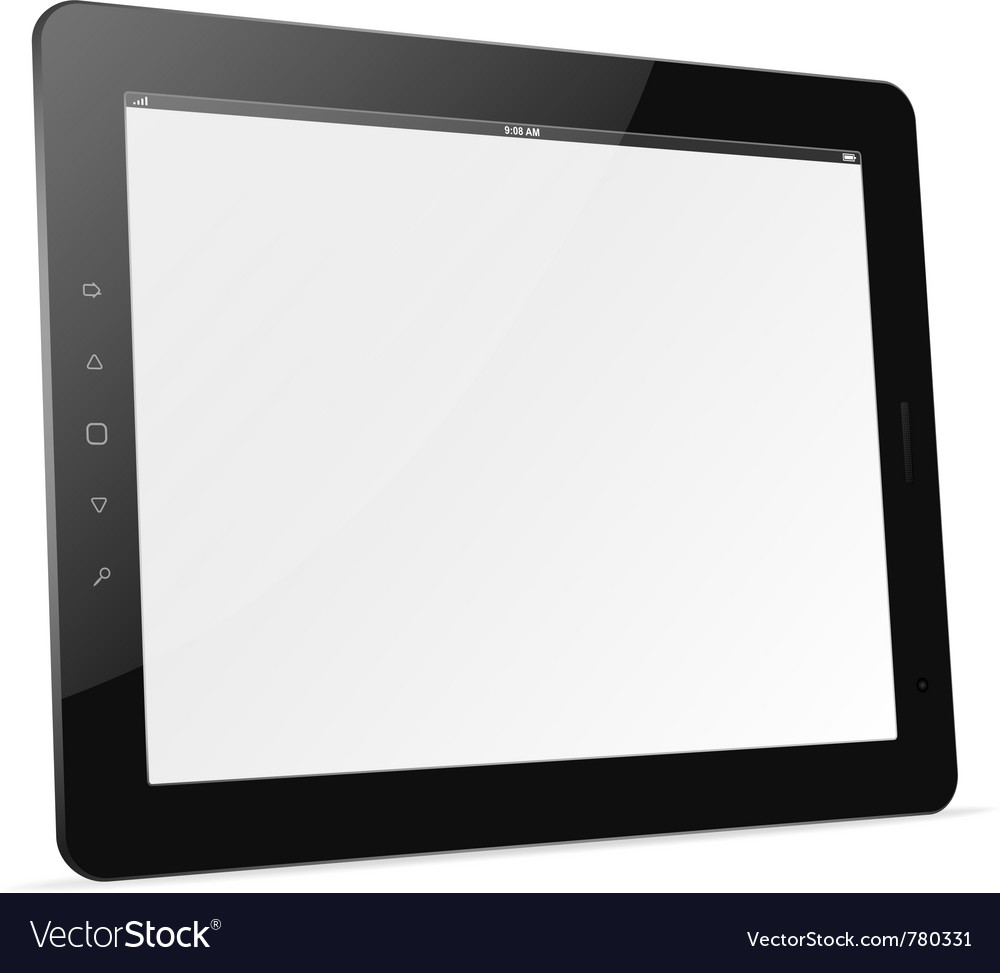 Tablet computer trendy ipad theme Vector Image