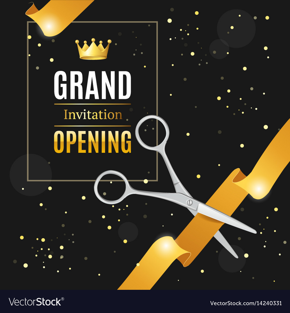 Grand opening invitation card Royalty Free Vector Image – Grand Opening Invitation Cards