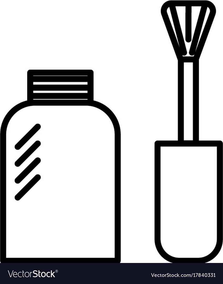 Nail polish line icon sign vector image