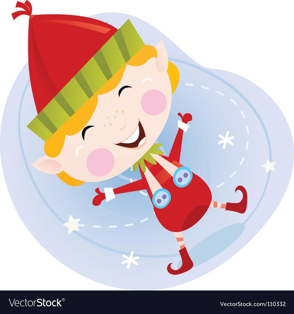 cartoon christmas elf royalty free vector image