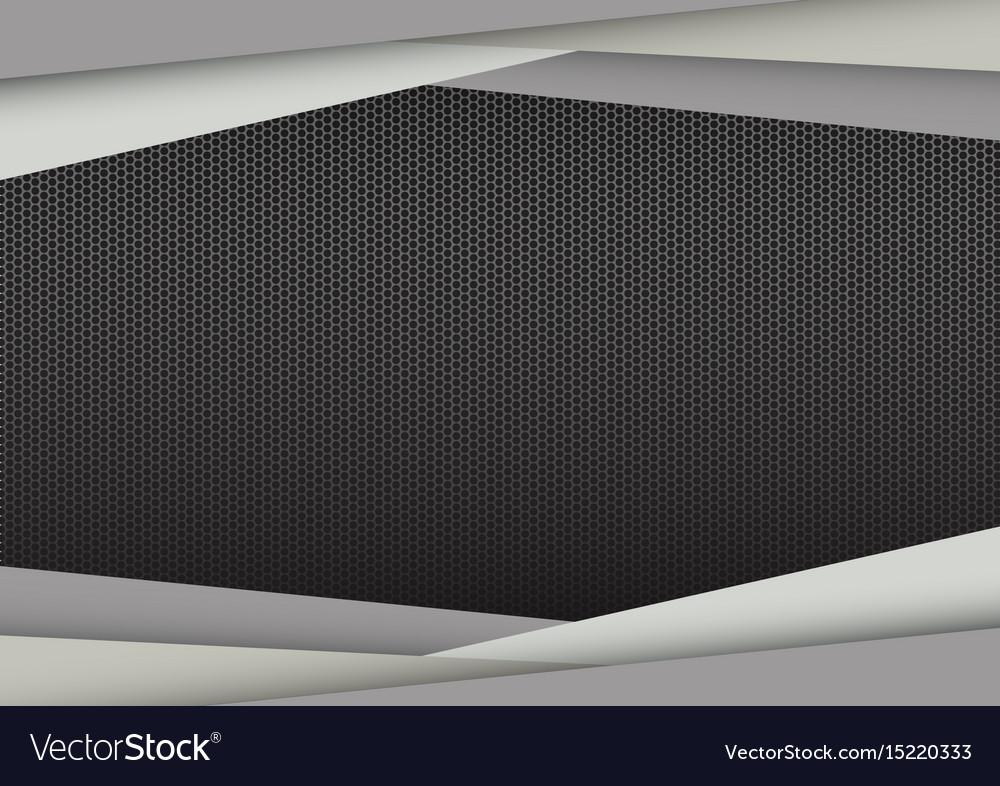 Abstract modern frame gray geometric vector image