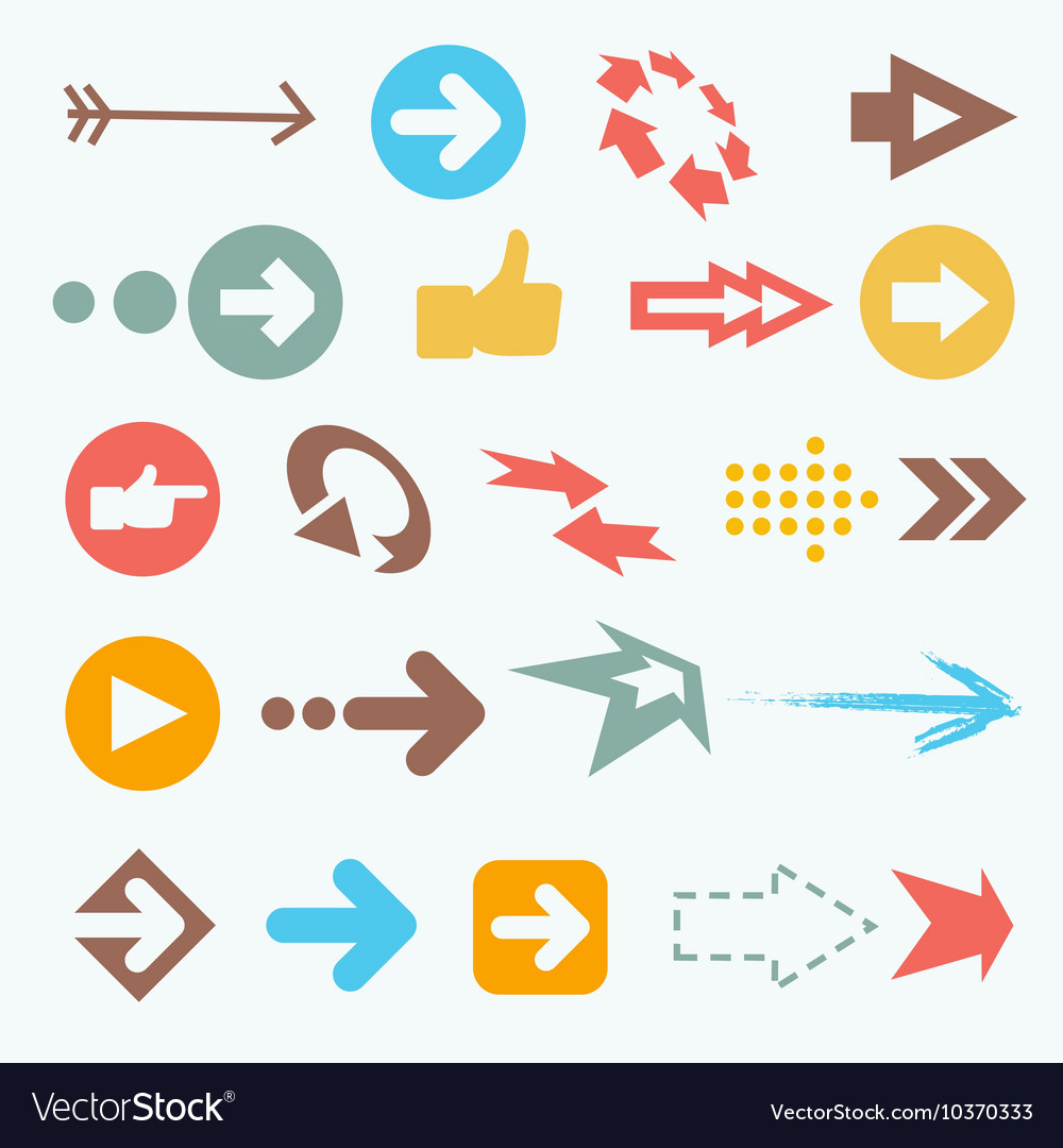Color arrow icons Big vector image